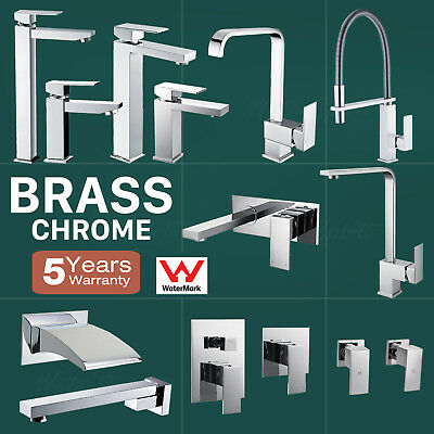 Brass Tall Basin Sink Vessel Kitchen Mixer Tap Wall Spout Faucets Diverter Wels
