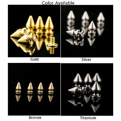 Solid Metal Leather Craft Repairs Decor Bullet Studs Punk Rivet Decor Spike Cone
