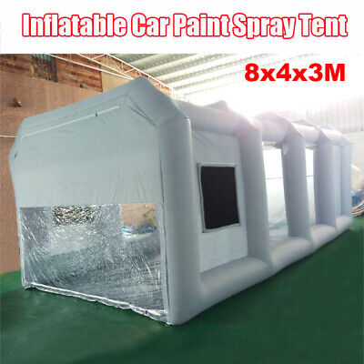 26x13x10Ft Commercial Inflatable PVC Paint Booth Cabin Portable Car Spray Tent
