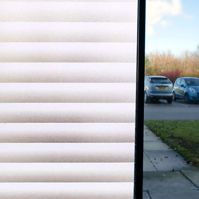 White Privacy Frosted Film Frost Glass Static Window Film Striped Shutters Hot