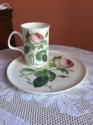Roy Kirkham Redoute Roses China Mug& Saucer Pre Owned / Lovely Gift