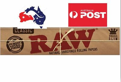 5X RAW Classic King Rolling Papers, free gift, ships free Original Spain