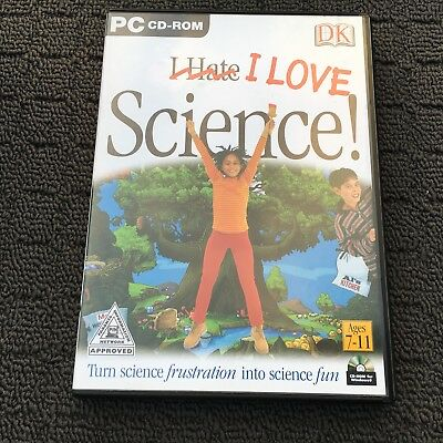 I LOVE SCIENCE! Children's Educational Adventure PC Game Software (2001) DK