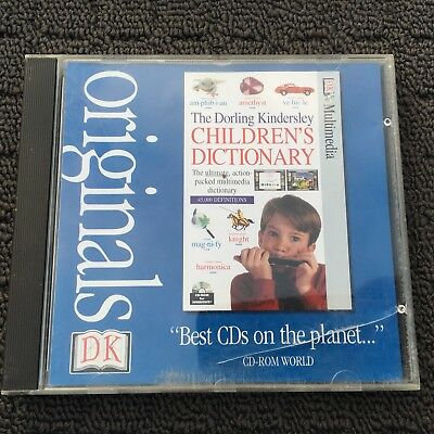 CHILDREN'S DICTIONARY Kids Educational Reference PC Game Software (1996) DK