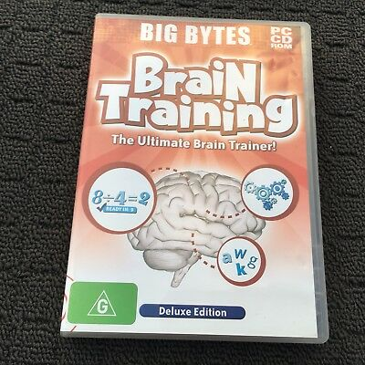 """BRAIN TRAINING """"Deluxe Edition"""" Educational Adventure PC Game Software (2007)"""