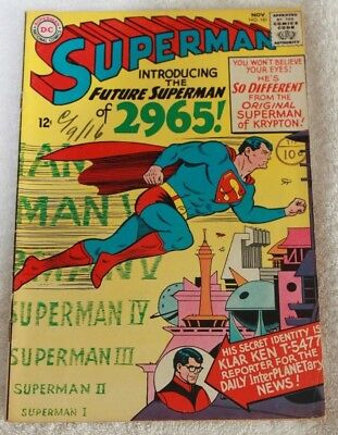 SUPERMAN  No.181...NOV  1965...NATIONAL  PERIODICAL...A  LOVELY  CLEAN  COMIC
