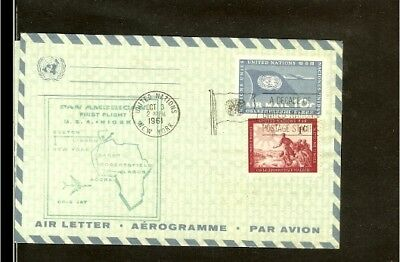 1961 - USA First flight cover - New York - Lagos [NL193_15]