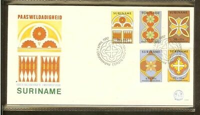 1982 - Rep. Surinam FDC E059 - Easter beneficence - details from windows of chur