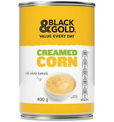 Black & Gold Creamed Corn 400gm x 24