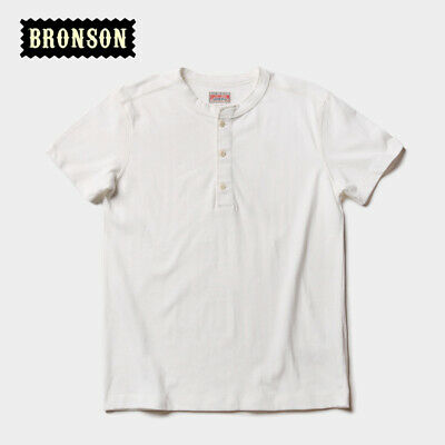 Bronson Henley Tee Shirts For Men Summer Vintage Cotton T-Shirts Short Sleeve