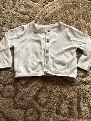 Next Baby Girls 3/6m White Cardigan