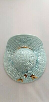 Vintage Art Deco SMALL 12.5cm YELLOW HAT SHAPED WALL POCKET Kitsch vase