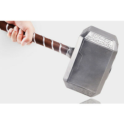Thor Hammer 43cm Avangers Prop Marvel  Cosplay Real Model Base The Dark Toy Gift