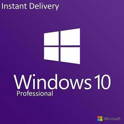Microsoft Windows 10 Pro Professional 32/ 64bit Genuine License Key