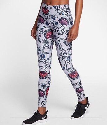 be2418b3908 NIKE POWER LEGEND Women s Floral Printed Training Tights AA2231-027 Size M  New