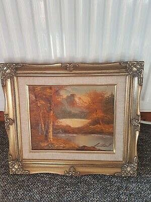 Fantastic Vintage OIL PAINTING, framed, Signed  early 20th century