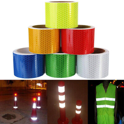 1 Roll Self Adhesive Sticker Reflective Tape Warning Truck Car Safety Caution
