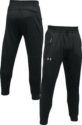 Under Armour UA Men s ColdGear Reactor Fleece Tapered Trousers - L - Black  - New f31127b6d546