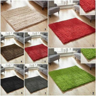 New Small To Large Area Rug Thick 5Cm Pile Modern Shaggy Rug Clearance Sale