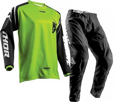 New 2018 36 XL Thor Sector ZONES Lime Jersey Pant Kit Motocross Enduro