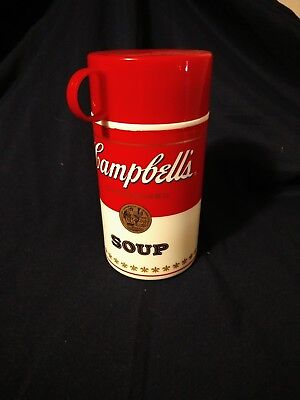 1998 Campbell's Soup Thermos- Soup Can-tainer, plastic, red cap