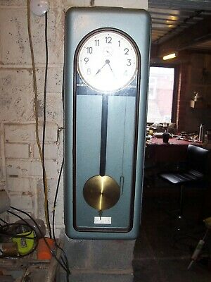 Industrial Weighted Self Winding Master Clock With Dial And Seconds Dial..