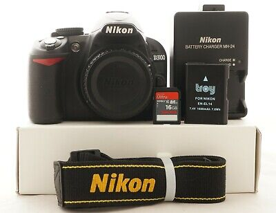 Nikon D D3100 14.2MP Digital SLR Camera -Body only very low shutter count 1080A