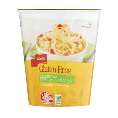 Coles Gluten Free Chicken Flavour Brown Rice Noodle Cup 70g