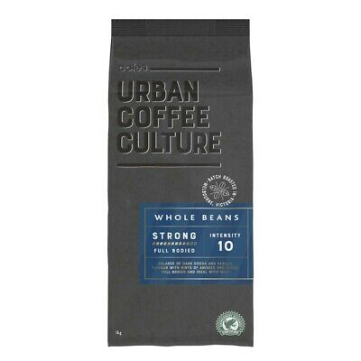 Coles Urban Coffee Culture Intensity 10 Strong Coffee Beans 1kg