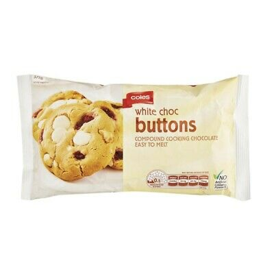 Coles White Chocolate Cooking Buttons 375g