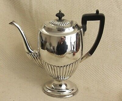 "Vintage Roberts & Belk Silver Plated Coffee Pot Teapot 10"" Stylish design"