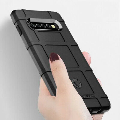For Samsung Galaxy S8 S9 S10 Plus Shockproof Rubber Rugged Shield Case Cover