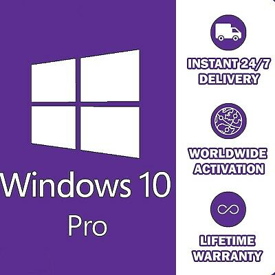 Genuine Windows 10 Professional Pro Key 32/64Bit Activation Code License Key 1Pc