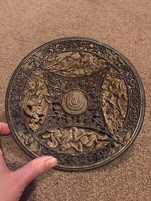 COALBROOKDALE Fine Antique 19th century Cast Iron Metal decorative plate c 1880