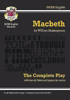 Grade 9-1 GCSE English Macbeth - The Complete Play (CG by CGP New Paperback Book