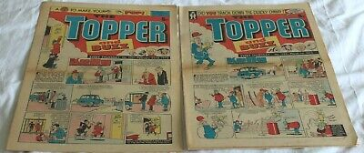 2  TOPPER and  BUZZ  COMICS..1975...FEB 22nd + MAR 1st....VERY  NICE  CONDITION