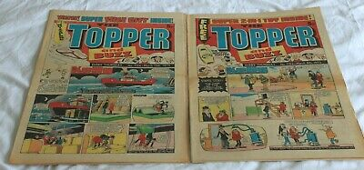 2  TOPPER and  BUZZ  COMICS..1975...MAR 8th + 15th....VERY  NICE  CONDITION