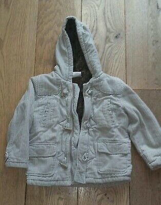 Ladybird Boys Warm cream/light brown coat aged 3-4 Years