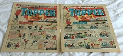 2  TOPPER and  BUZZ  COMICS..1975...APRIL 5th + 12th....VERY  NICE  CONDITION