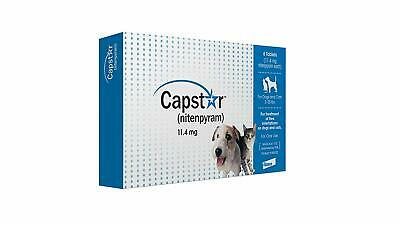 Novartis Capstar Flea Tablets for Dogs and Cats, 2-25lbs, Fast Ship
