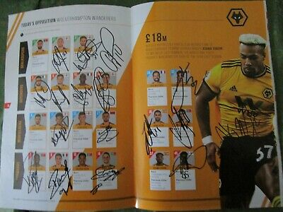 Bristol City Programme Signed by Wolverhampton Wanderers FA Cup Fifth Round 2019