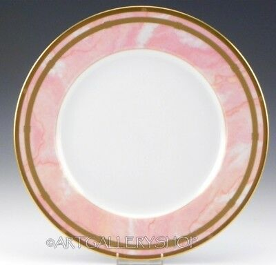 """Christian Dior GAUDRON MARBRE ROSE PINK & GOLD 10-7/8"""" DINNER PLATE"""