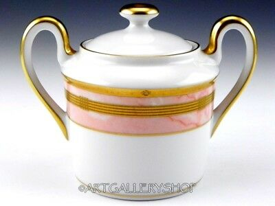 Christian Dior GAUDRON MARBRE ROSE PINK & GOLD SUGAR BOWL WITH LID