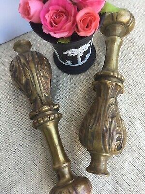 Pair Of Antique French Bronze Finials Architectural Salvage