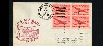 [ER024] 1947 - USA Flight cover - Transport - Helicopters - Experimental Helicop