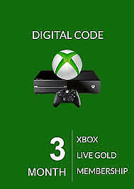 Xbox Live 3 Month Membership Code Xbox 360/One (Region Free)