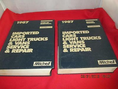 Lot Of 2 1987 Mitchel Manuals Import Cars Engine Chassis & Tune Up Electrical