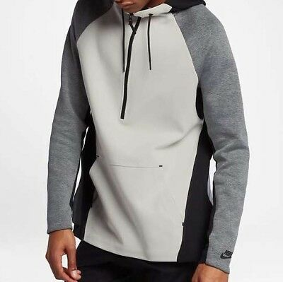 Nike NSW Tech Fleece Men s Half-Zip Hoodie Top 884892-072 Light Bone Size 46bc0f420