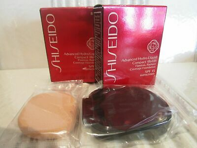 Shiseido Advanced Hydro-Liquid Compact (Refill) 2 Pc Lot # B100 Very Deep Beige