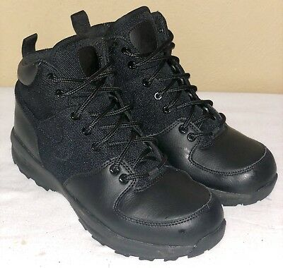 dc94dec96f5a Nike Air Manoa Leather Textile (GS) AGG Boots Black 613546-001 Size 6Y